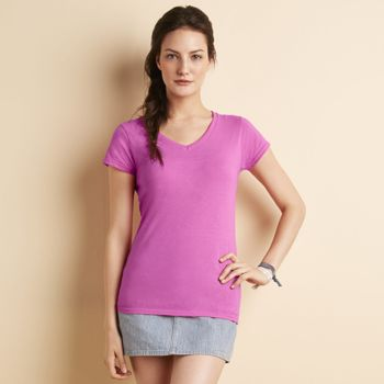 Damen - T-Shirt - Gildan - Softstyle V-Neck Miniaturansicht