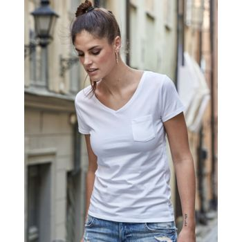 Damen - T-Shirt - Tee Jays - Luxury Pocket V-Neck Miniaturansicht